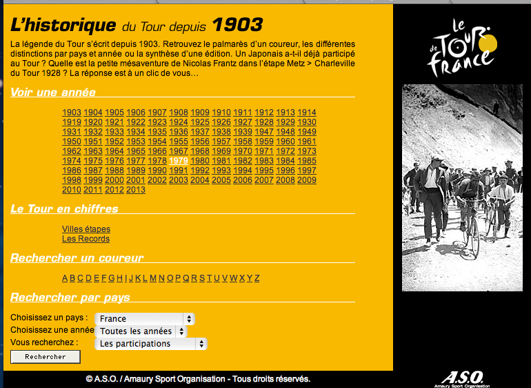 Screenshot - Historique de Tour de France