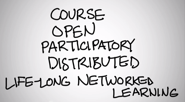 Screenshot of Dave Cormier's MOOC video
