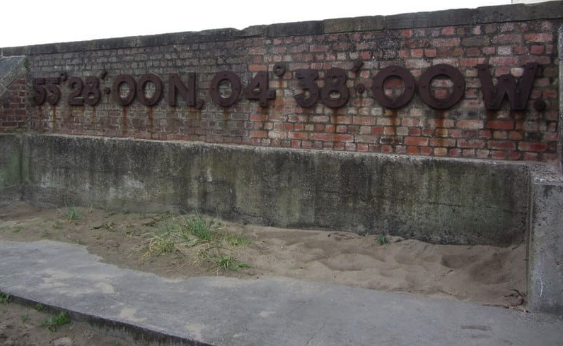 Latitude and Longitude on Ayr Harbour Wall