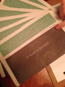 Paper copies of Contributoria